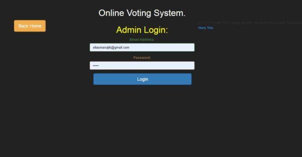 Online Voting System